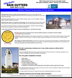 Affordable Rain Gutter