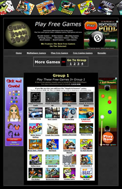 Play online games free at Game Room 2000
